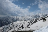 八方尾根スキー場ピークより五竜岳を望む